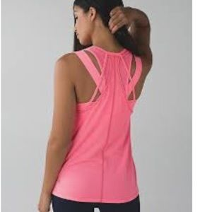 Lululemon Tough it Out Tank-Heathered Flashlight